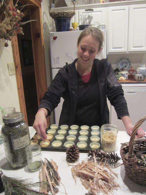 *making pine muffins