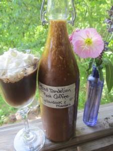 iced dandelion root coffee